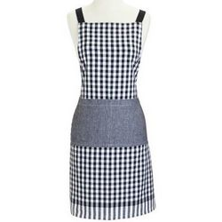 Black Checkered BBQ Apron