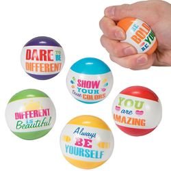 12 Paint Chip Motivational Stress Balls
