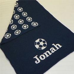 Baby's Personalized Soccer Blanket