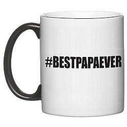 Personalized Hashtag Black Handle White Mug