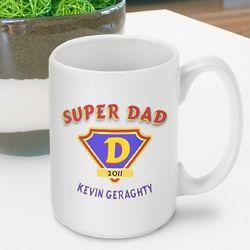 Personalized Super Dad Coffee Mug
