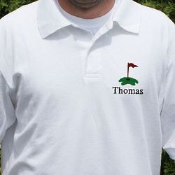 Personalized Embroidered Hole in One Golf Polo Shirt