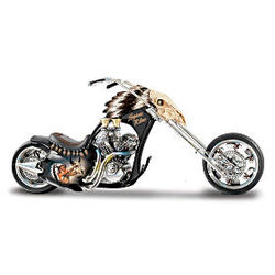 Spirit Rider Native American Style Motorcycle Figurine