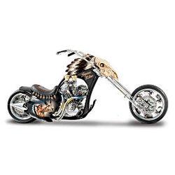 Spirit Rider Native American Style Motorcycle Figurine
