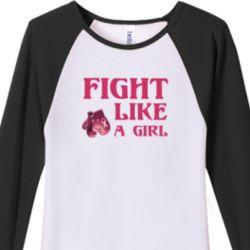Fight Like a Girl Womens 3/4 Raglan Jersey