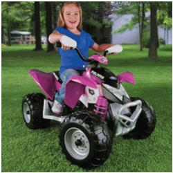 Battery Operated Polaris Outlaw Ride On Vehicle in Pink