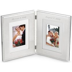 Silver Beaded Hinged Frame