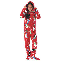 Hoodie-Footie Winter Whimsy Snuggle Fleece