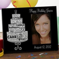 Personalized Birthday Cake Picture Frame