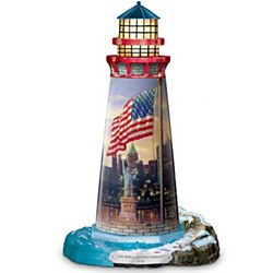 Thomas Kinkade The Light Of Freedom Lighthouse Sculpture