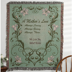 Personalized A Mother's Love Tapestry Afghan