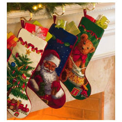 Needlepoint Stockings Santa