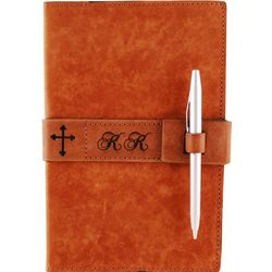 Leather Legal Pad Cover with Cross