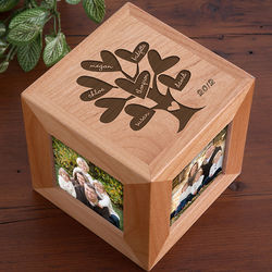 Family Tree Personalized Photo Cube Family Tree Personalized Photo Cube