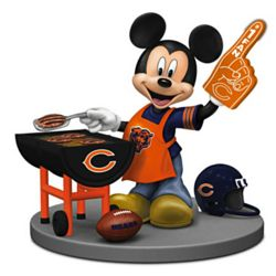 Chicago Bears Fired Up for a Win Mickey Mouse Figurine