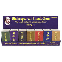 Shakespearean Insult Gum Set