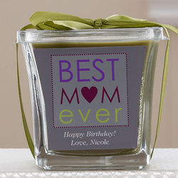 Best Mom Ever Personalized Papaya and Bamboo Candle