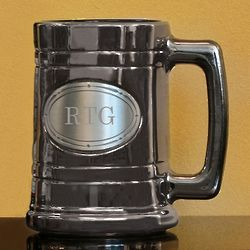 Personalized Gunmetal and Pewter Tankard