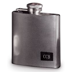 Engraved Stainless Steel Textured Flask