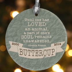 Love of a Pet Personalized Memorial Ornament