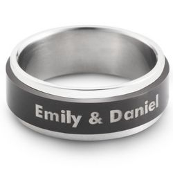 Stainless Steel Spinner Wedding Band