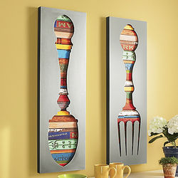 Fork and Spoon Wall Art Decor