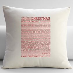 T'was the Night Before Christmas Throw Pillow Cover