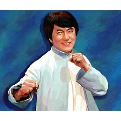 Jackie Chan Oil Painting Limited Editions Print