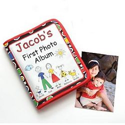 Primary Colors Personalized Baby's First Photo Album