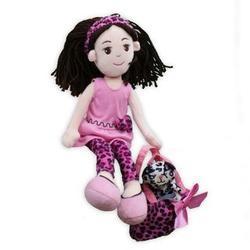 Pinky Promise Leopard Dress Rag Doll