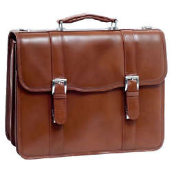 V Series Flournoy Leather Double Compartment Laptop Case