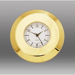 Brass Chart Weight Paperweight Clock