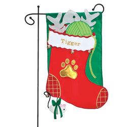 Kitty and Puppy Stocking Garden Flags