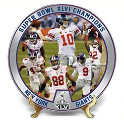 New York Giants 2012 Super Bowl Champions Collector Plate