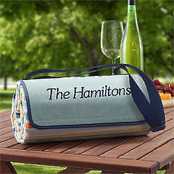 Personalized Picnic Blanket Tote