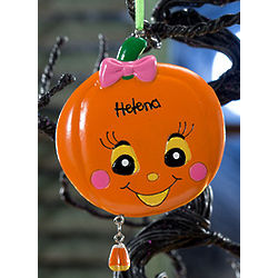 Personalized Miss Pumpkin Halloween Ornament