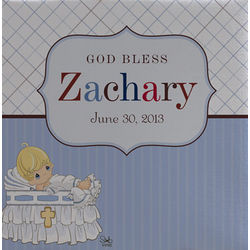 Personalized Precious Moments Baby Christening Canvas Print