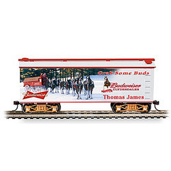Personalized Budweiser Holiday Train Car
