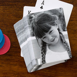 Personalized Single Photo Playing Cards