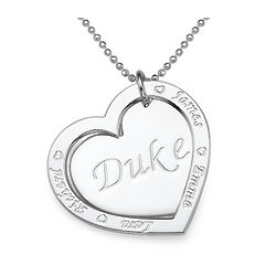 Sterling Silver Family Heart Necklace