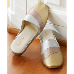 Metallic Colorblock Slippers
