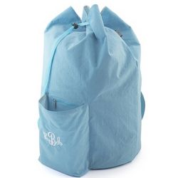 Blue Drawstring Laundry Bag