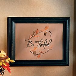 Be Thankful Framed Art Hanging