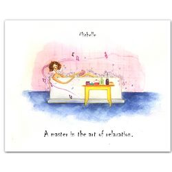 Bath Time Bubbles Personalized Art Print