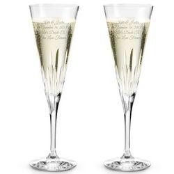 Vera Wang Duchess Crystal Toasting Champagne Flutes