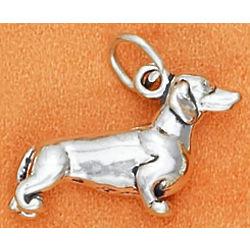 Sterling Silver Dachshund Charm