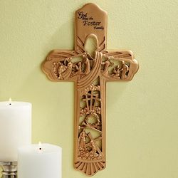 Personalized Resurrection Scene Sculpted Cross