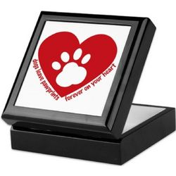 Dogs Leave Pawprints Keepsake Box