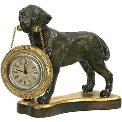Labrador Retriever Table Clock