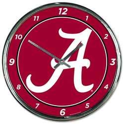 Alabama Crimson Tide Chrome Plated Clock